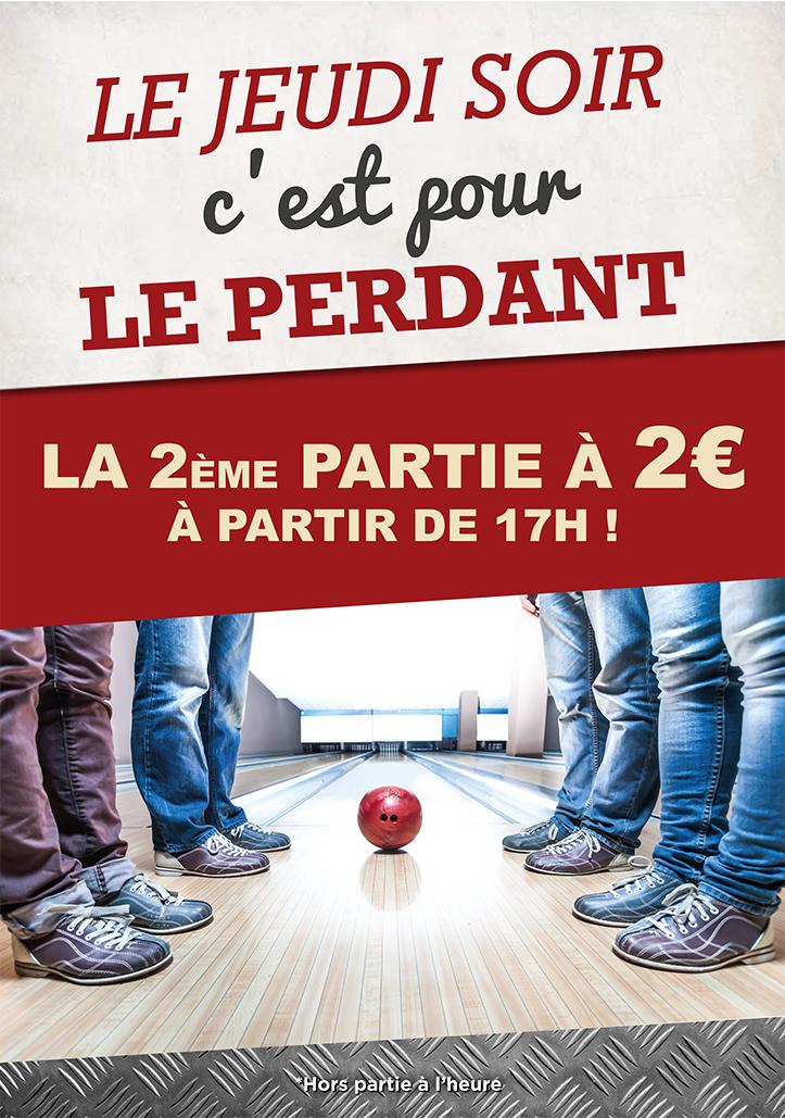 affiche bowling soirées jeudis